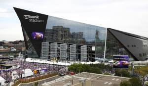 Filel photo of the U.S. Bank Stadium before an NFL football game between the Minnesota Vikings and the Green Bay Packers, Sept. 18, 2016, in Minneapolis. Andy Clayton-King | AP File